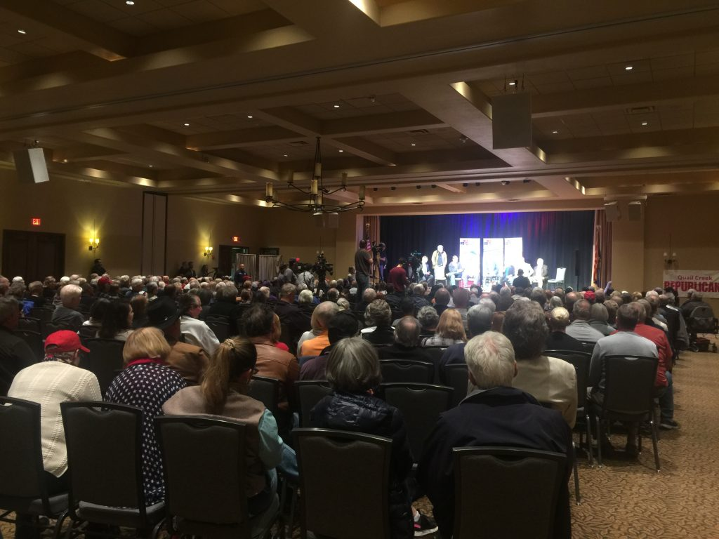 Pictures from the We Build The Wall Town Hall event